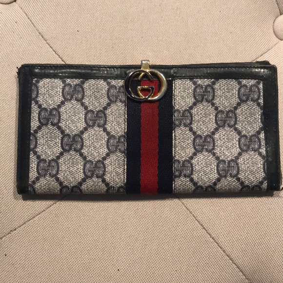 5146a0442c701f Gucci Bags | Wallet Blue With Red Stripe | Poshmark